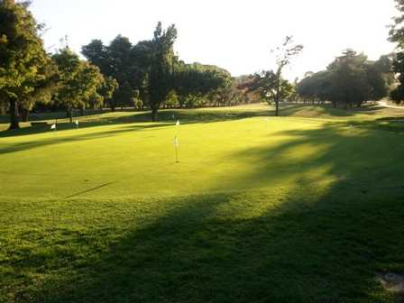 A view of the practice putting green at Van Buskirk Park Golf Course