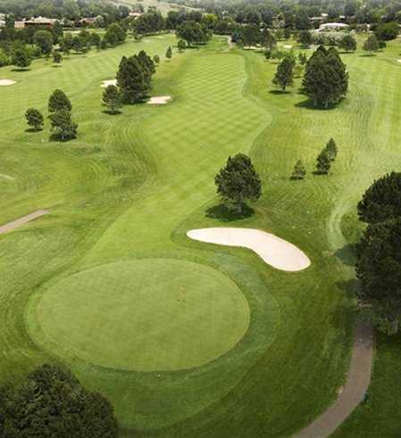 Aerial view of hole #2 at Colorado Springs Country Club
