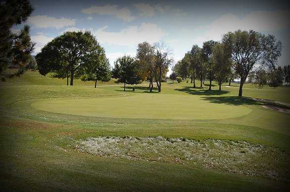A view of green #4 at Regulation Nine from Cherokee Ridge Golf Course