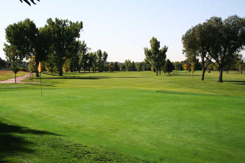 A view of hole #7 at Valley Hi Municipal Golf Course
