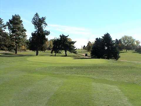 A view of the 1st green at Denver City Park Golf Course