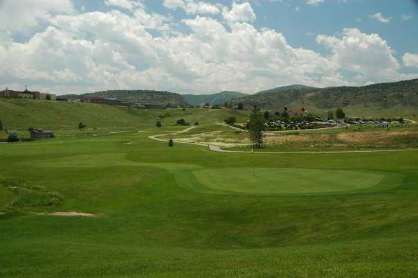 A view of a green at Eighteen Hole from Foothills Golf Course