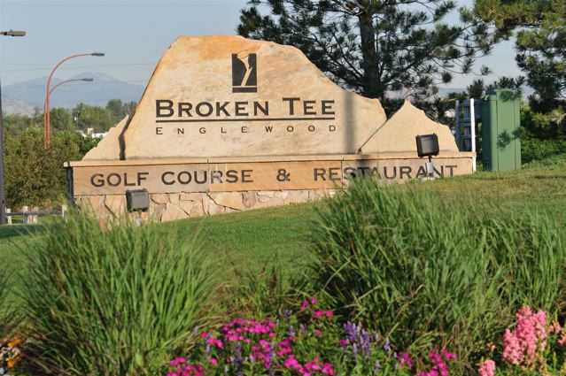 A view of the front sign at Broken Tee Englewood Golf Course