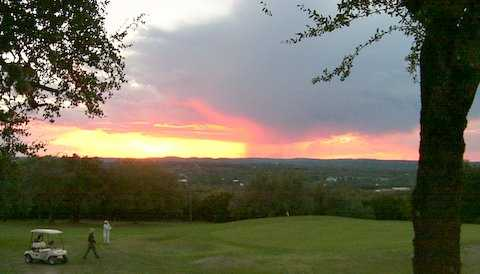 Sunset at Pedernales GC