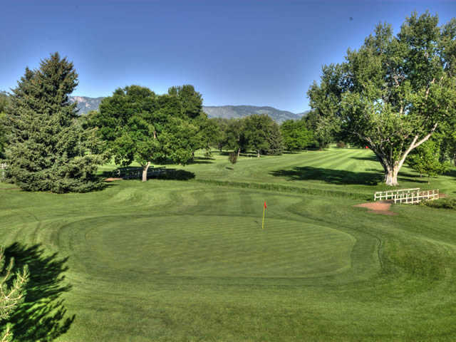 A view of the 9th green at City Park Nine Golf Course