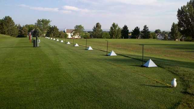 A view of the driving range tees at Ptarmigan Country Club