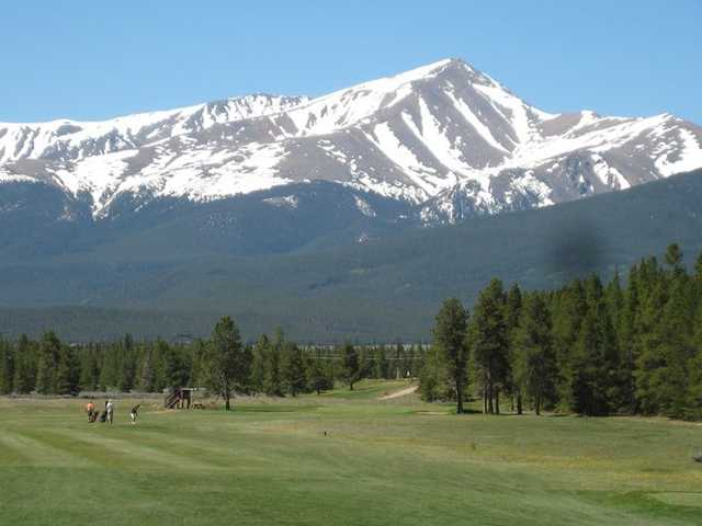 A view of hole #1 at Mount Massive Golf Course
