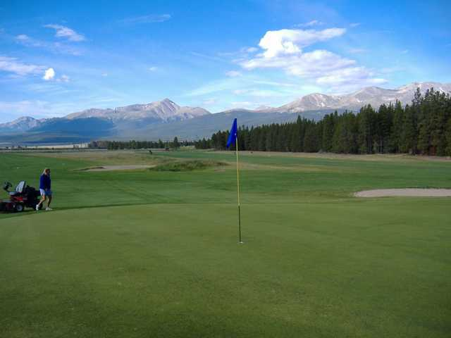 A view of the 9th hole at Mount Massive Golf Course
