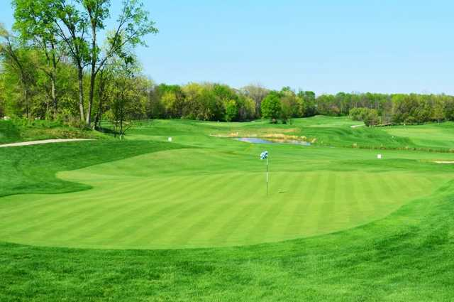 A view of the 9th green at Buffer Park Golf Course