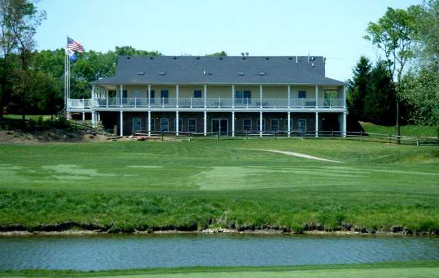 A view of the clubhouse at Buffer Park Golf Course
