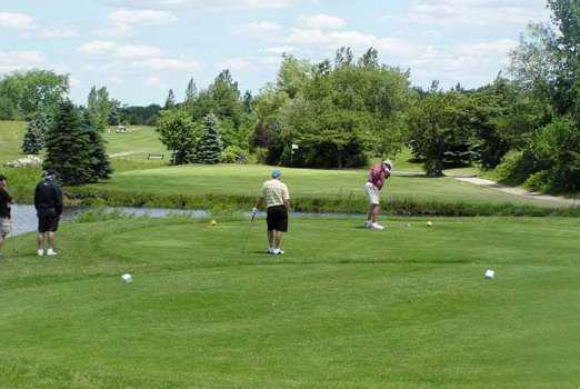 A view from tee at White Hawk Course from Chippewa Creek Golf & Country Club