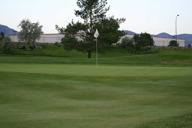 A view of green #3 at Raccoon Creek Golf Course