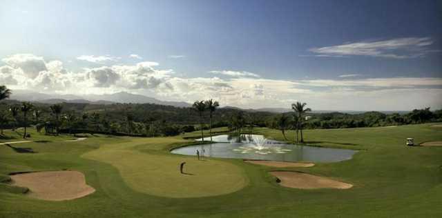 A view of the ninth green at El Conquistador Resort in Puerto Rico
