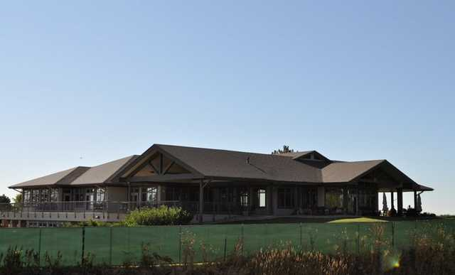 A view of the clubhouse at Fox Hill Country Club