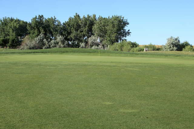 A view of the 5th green at Bella Rosa Golf Course
