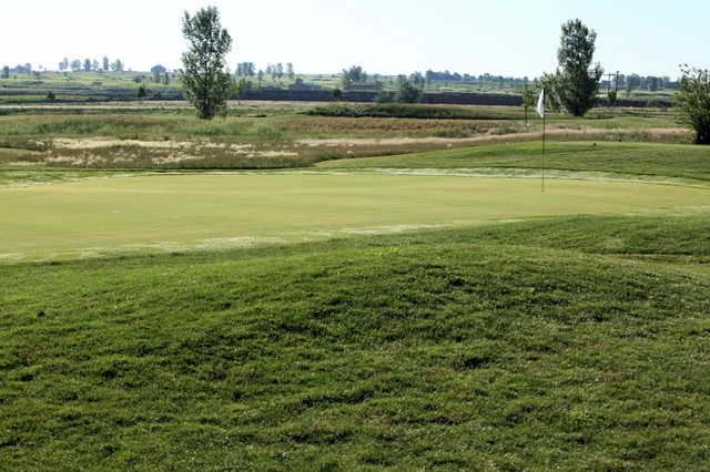 A view of green #3 at Bella Rosa Golf Course