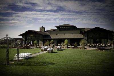 A view of the clubhouse at Black Bear Golf Club