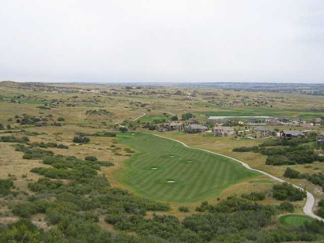 Aerial view of fairway #16 from The Club at Pradera