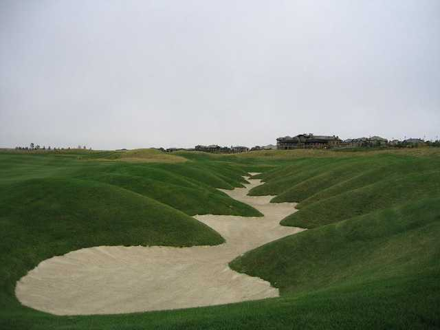 A view of hole #18 bunker from The Club at Pradera