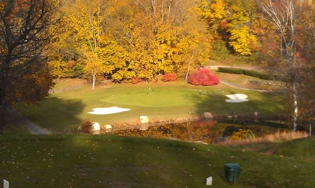 A view of the 3rd green at E. Gaynor Brennan Golf Course