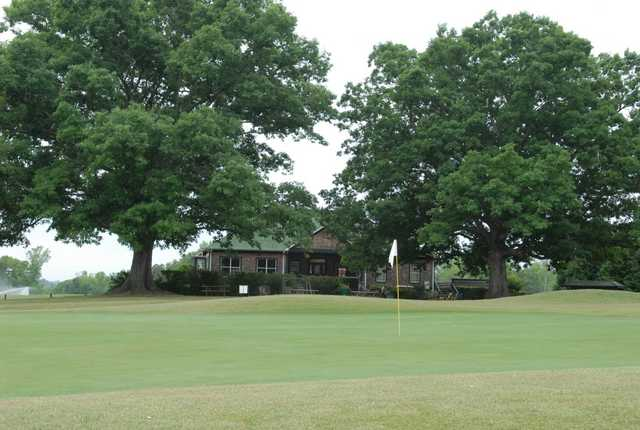 A view of the clubhouse at Double Oaks Golf Club.