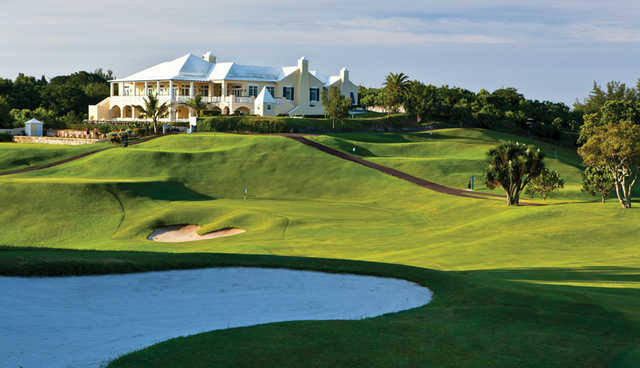 A view of the clubhouse at Tucker's Point Club
