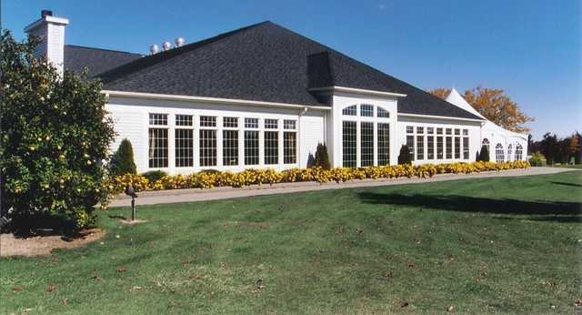 A view of the clubhouse at Cedar Glen Golf Club