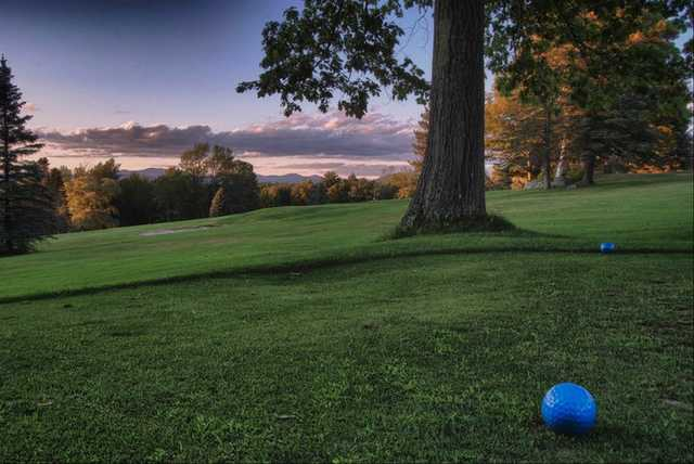 A view from tee #11 towards the 8th green at Waukewan Golf Club