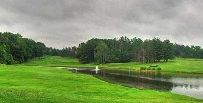 A view of the 13th and 14th fairway at Clearcrest Pines Golf & Banquet Centre