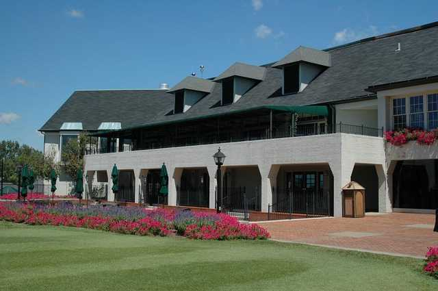 A view of the clubhouse at Evansville Country Club