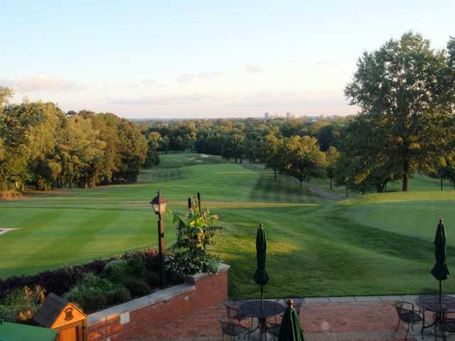 A view from the clubhouse terrace at Evansville Country Club