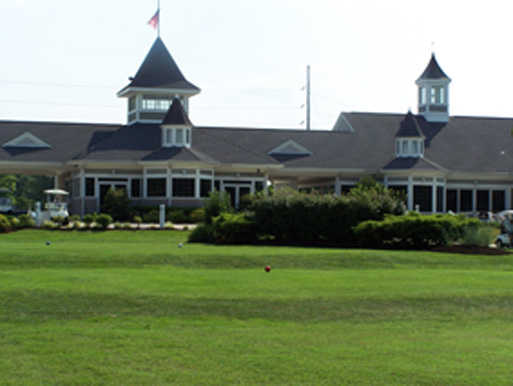 A view of the clubhouse at John H. Fendrich Golf Course
