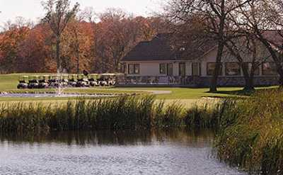 A view of the clubhouse at Geneva Golf Club.