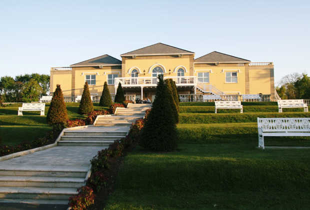 A view of the clubhouse at Palmerstown House Golf Club