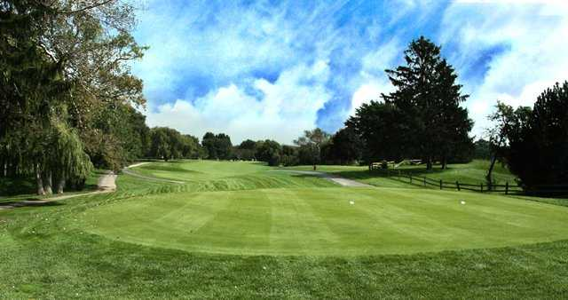 A view of the 9th green at Tournament course from Schaumburg Golf Club