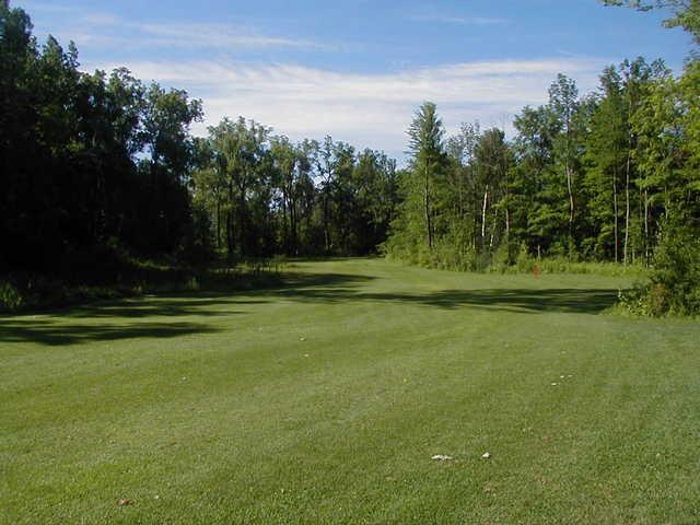A view of fairway #15 at Arrowhead Golf Club