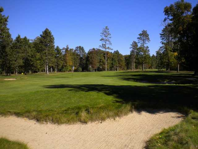 A view of the 18th green at White Pine National Golf Club