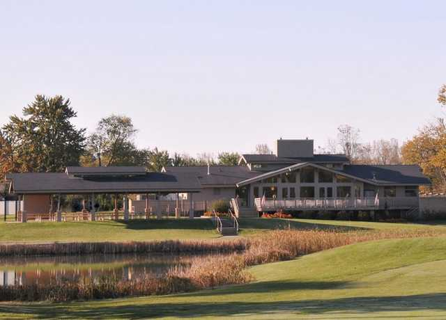 A view of the clubhouse at Currie Golf Course