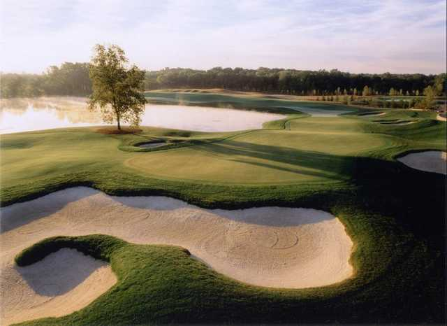 A view of hole #2 and #18 at WestWynd Golf Course.