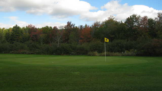 A view of green #4 at Goose River Golf Club