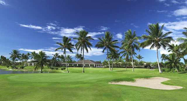 A view of the 9th green at A Nines from Hawaii Prince Golf Club
