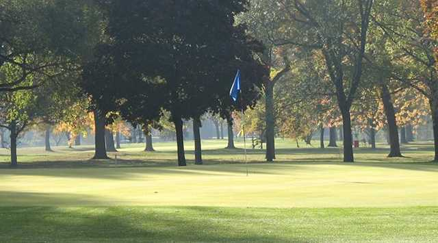 A sunny view of green at Maple Lane Golf Club