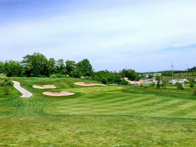 A view of the 13th green from fairway at Crown Golf Course