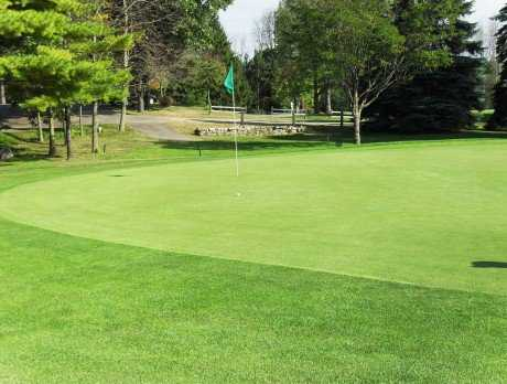 A view of the 18th green at Oak Lane Golf Course