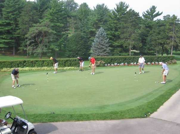 A view of the practice putting green at Rochester Golf & Country Club