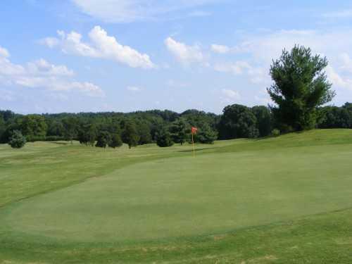 A view of a green at Silo Run Golf Course