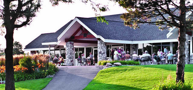 A view of the clubhouse at Fieldstone Golf Club of Auburn Hills.