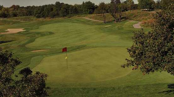 A view of hole #9 at Fieldstone Golf Club of Auburn Hills