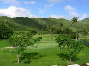 A view of hole #2 at Hawaii Kai Executive Golf Course