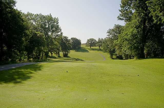 A view from the 8th tee at Bay Hills Golf Course